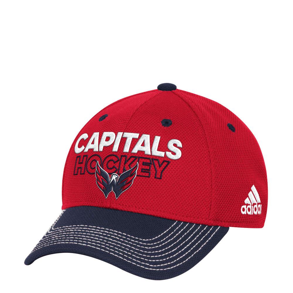 Washington Capitals Adidas NHL Locker Room Flex Lippis  L XL ... 6c1e720d0