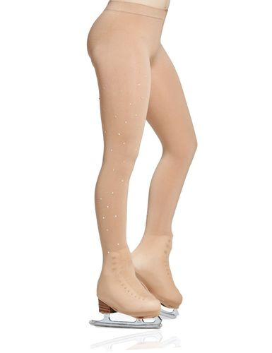 MONDOR Rhinestones boot cover Tights JR 912 Caramel Sukkahousut