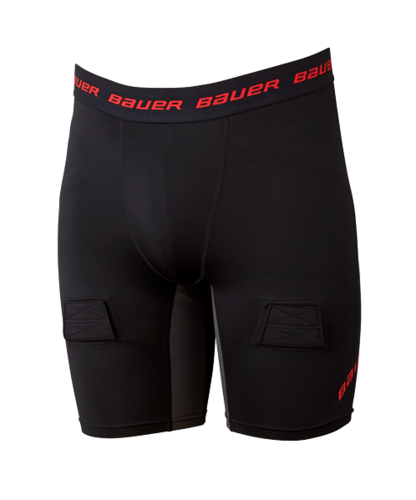 Bauer Essentl Compres Jock Short JUNIOR/YOUTH S19 Alasuojashortsit