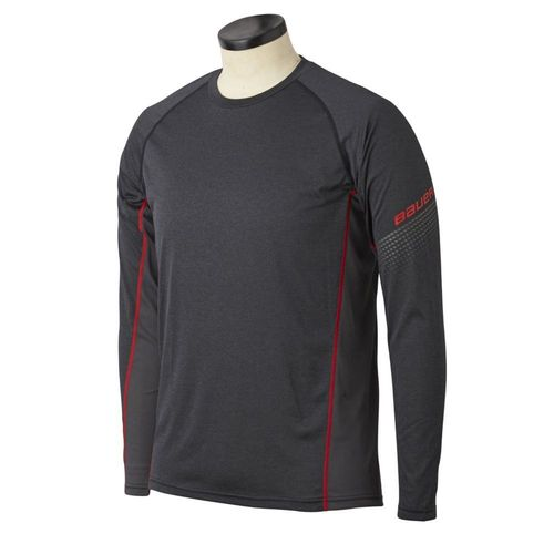 BAUER S20 Essentl LS BL Top SENIOR Aluspaita