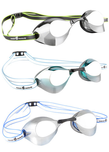 MAD WAVE Racing Goggles TURBO RACER II Mirror Uimalasit