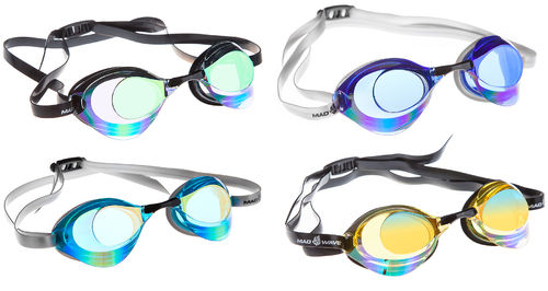 MAD WAVE Racing Goggles TURBO RACER II Rainbow Uimalasit