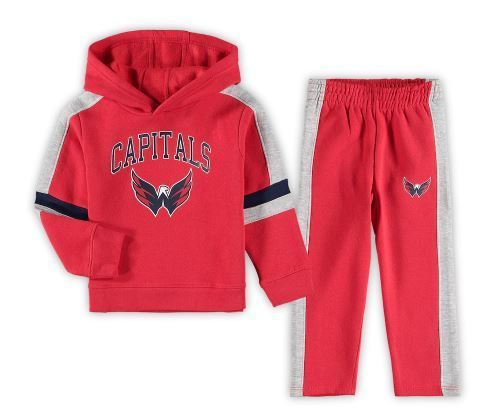 NHL S21 Fleece Pullover Hoodie & Pants Set JR/YTH(Lasten) Huppari+housut Washington Capitals